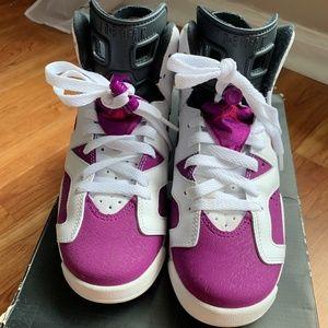 Auth Jordan 6 Retro GG Vivid Pink W/BOX US7.5